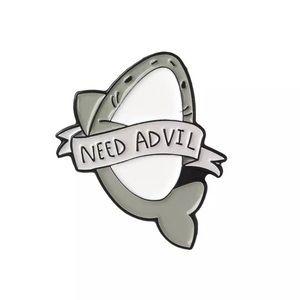 ‼️5 for $25 SALE‼️NEED ADVIL Cute Shark Pin
